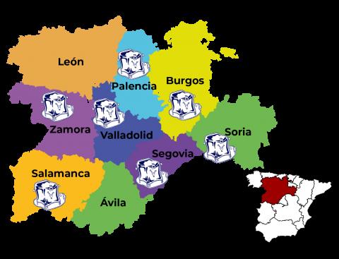 Fabricación y distribución de hielo en Castilla y León